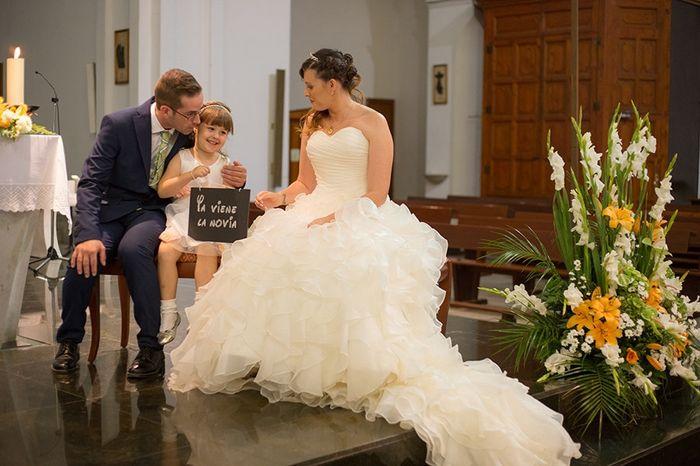 Foto de la iglesia con nuestra princesa