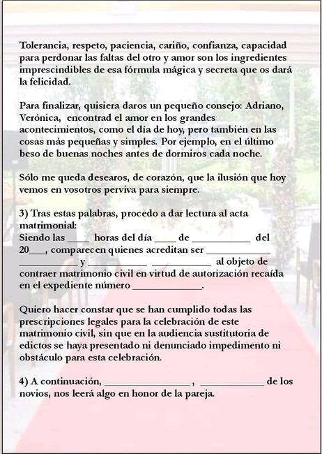 Guion Matrimonio Catolico : Guión ceremonia civil nupcial foro bodas