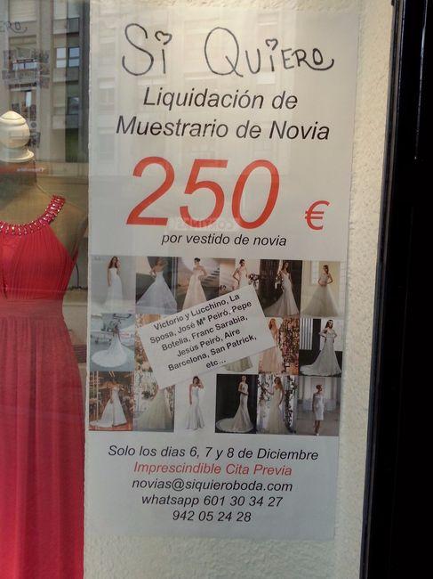 liquidación de vestidos de novia - cantabria - foro bodas
