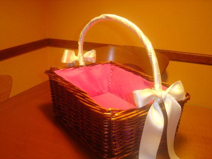 Como forrar cestas de mimbre para bodas imagui - Como adornar una cesta de mimbre ...