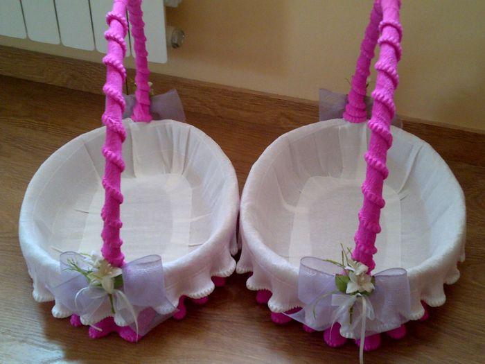 Como decorar las cestas para poner los detallitos - Como forrar una cesta de mimbre ...