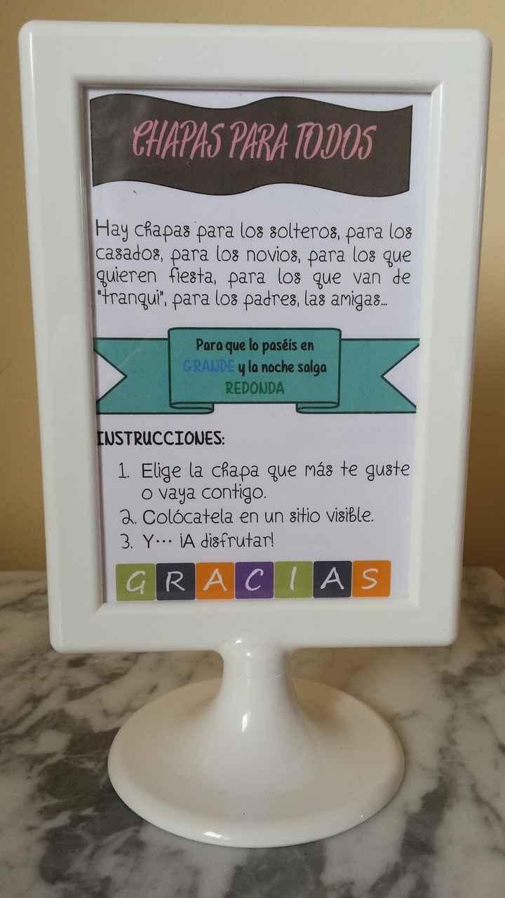 Instrucciones chapas