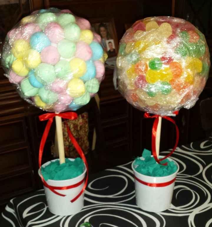 Topiarios para candy-bar