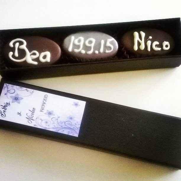 Caja de bombones para nuestros invitados