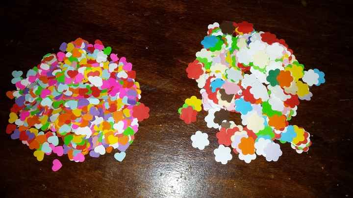 Confeti (hecho con troquladoras)