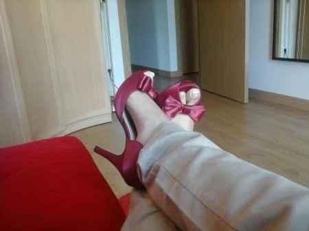 zapatos granate