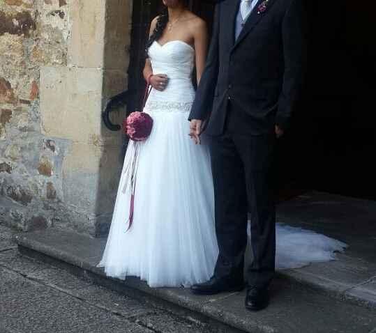 Vendo vestido de novia precioso y barato (mpdelo paladia) - 4