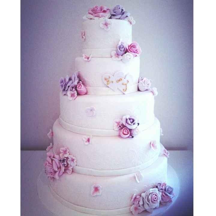 nuestro pastel de boda