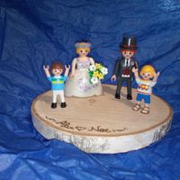 Muñeco tarta de playmobil - 1