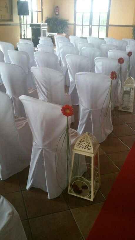 ¿cómo vais a decorar el pasillo de la ceremonia? - 1