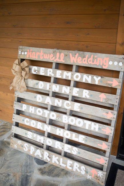 Ideas utilización palets en bodas 17