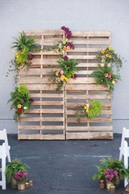 Ideas utilización palets en bodas 21