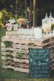 Ideas utilización palets en bodas 24