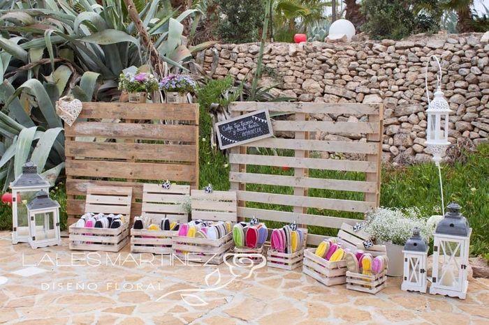 Ideas utilización palets en bodas 28