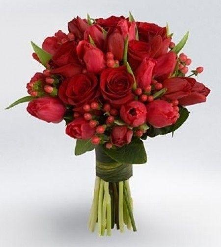 Ramos de novia rojos Moda nupcial Foro Bodasnet
