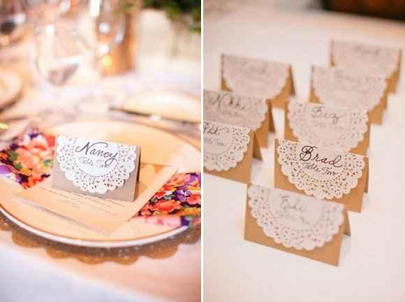 Nombres de invitados en las mesas - 2
