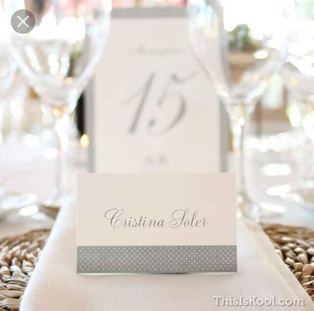 Nombres de invitados en las mesas - 4