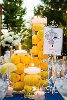 Como quedara la decoracion de la boda con frutas? - 1