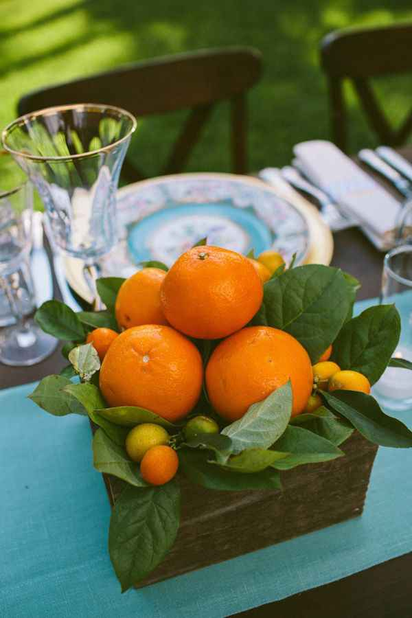 Como quedara la decoracion de la boda con frutas? - 4