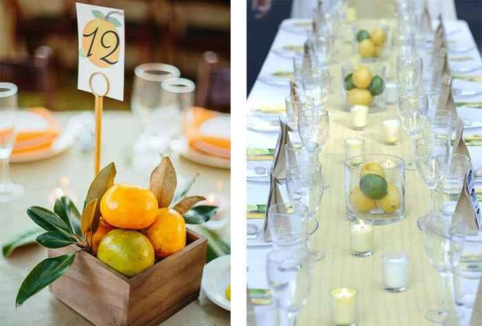 Como quedara la decoracion de la boda con frutas? - 3