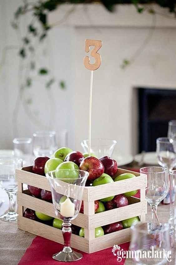 Como quedara la decoracion de la boda con frutas? - 5