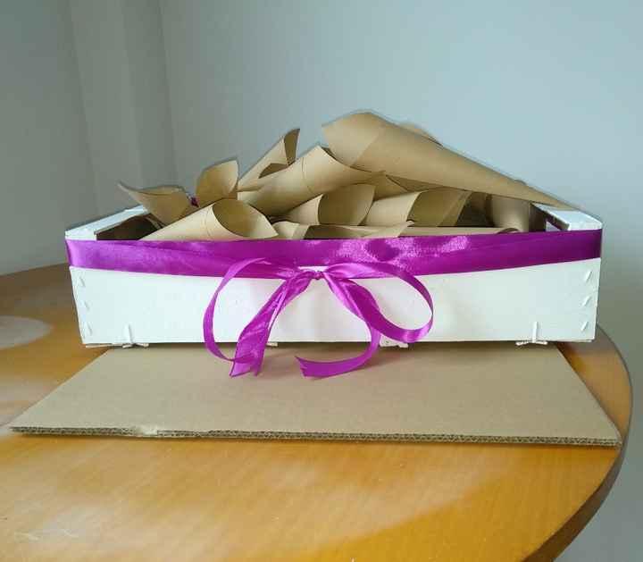 Caja, conos y cartel mesa dulce ! - 1