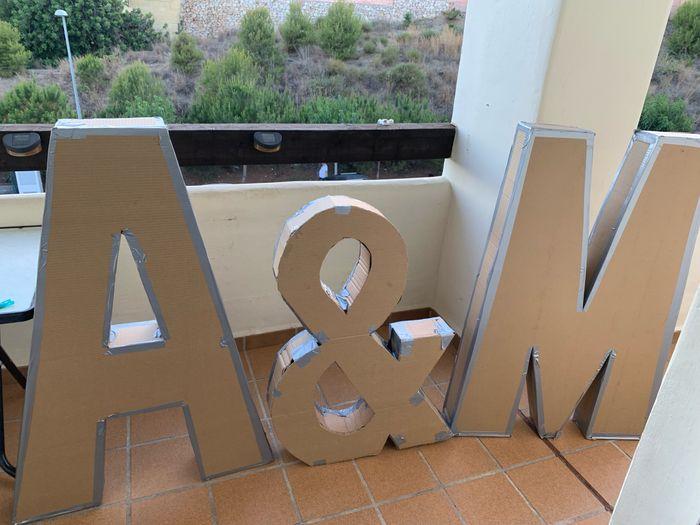Letras gigantes de cartón - 4
