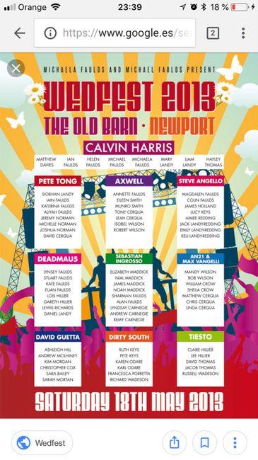 Invitaciones personalizadas festival música! - 2
