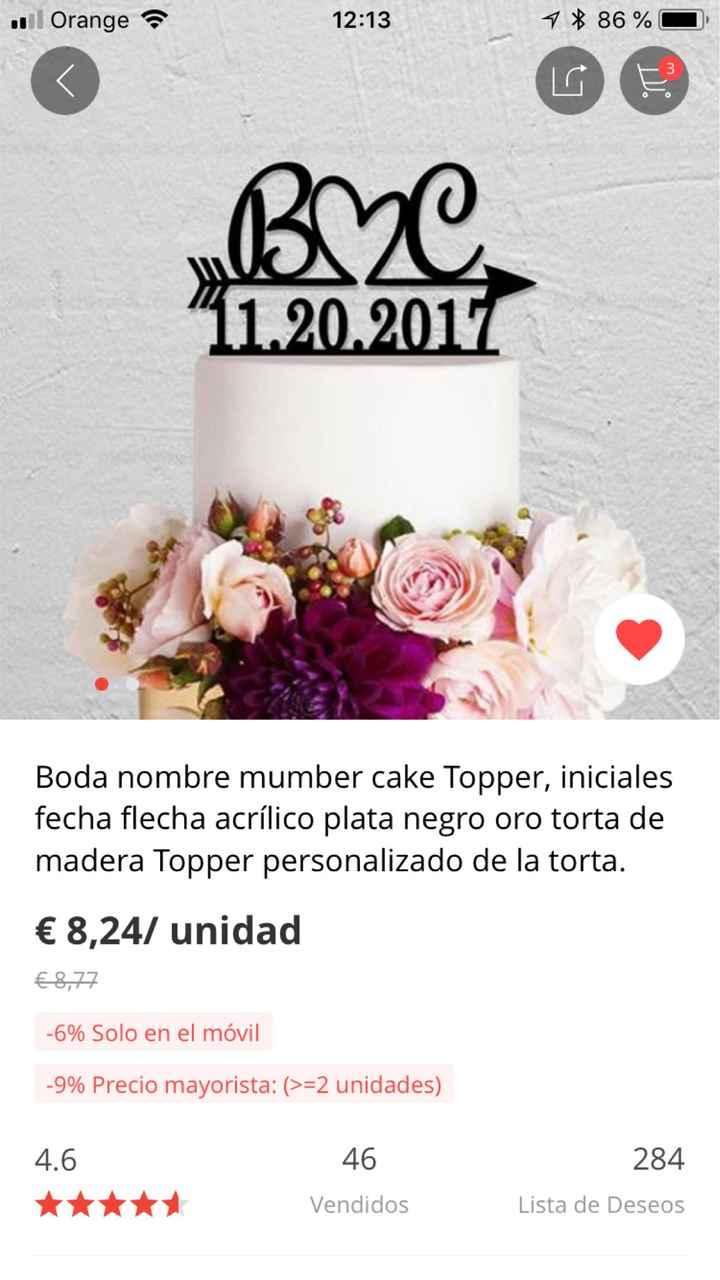 Cake topper de Aliexpress?? - 1