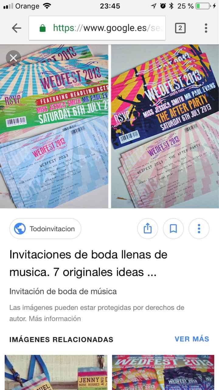 Invitaciones personalizadas festival música! - 1