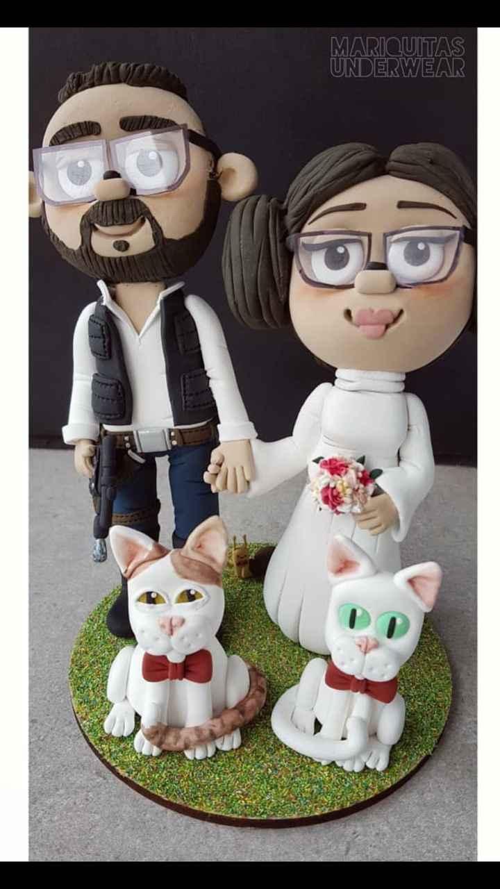 Nuestras figuras para la tarta - novia friki - 1