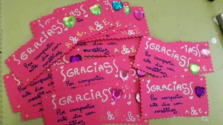 Tarjetas de agradecimiento - 1