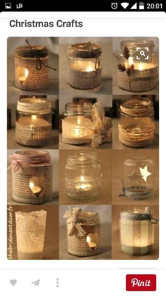 Porta velas con tarros de cristal - 1