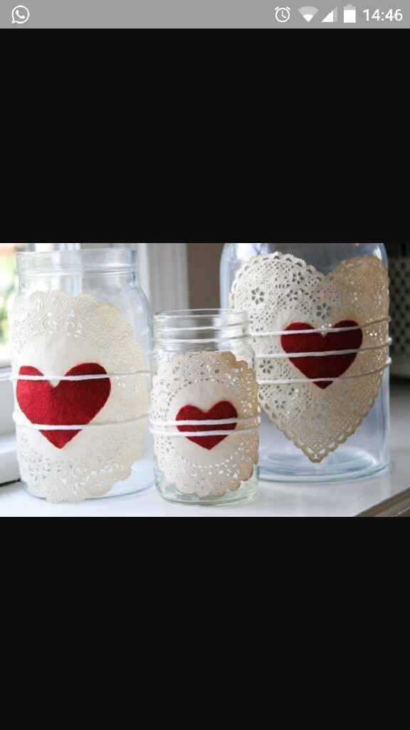 Porta velas con tarros de cristal - 2