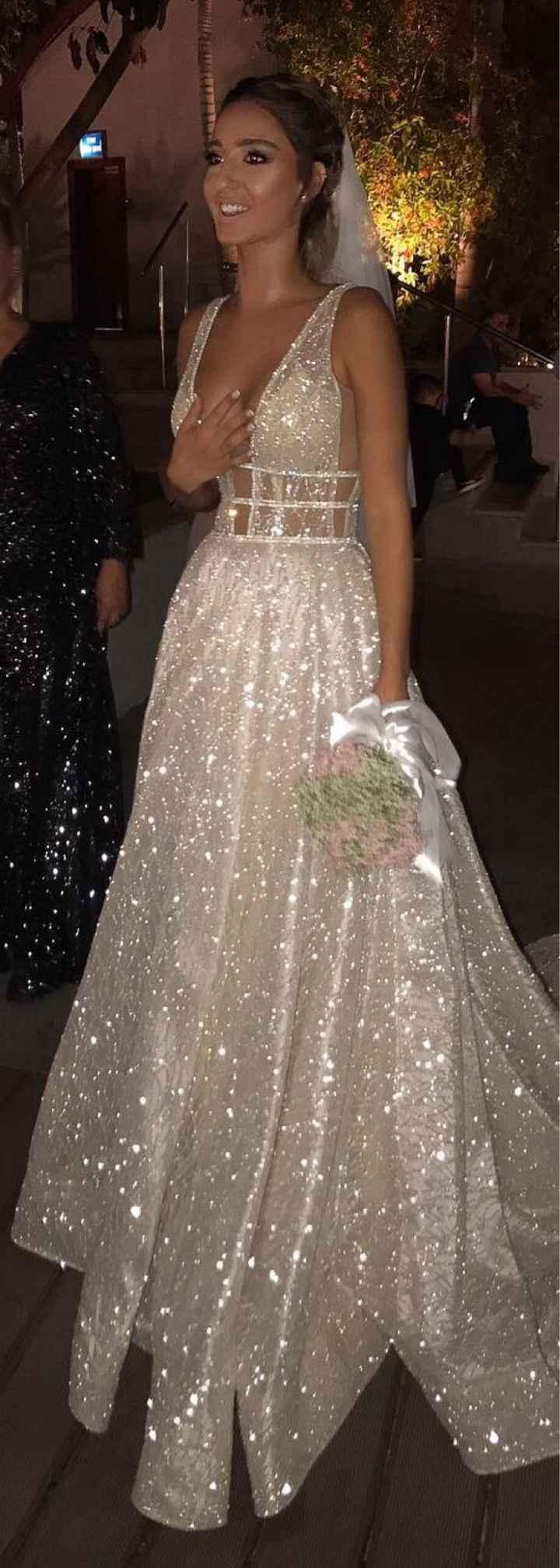 vestido de novia brillante - 1