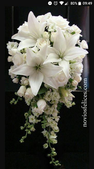 Ramo de novia cascada - 1