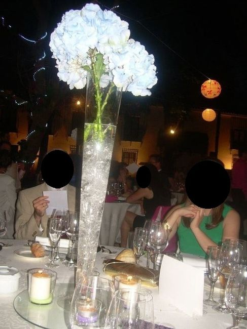 hortensias en copa