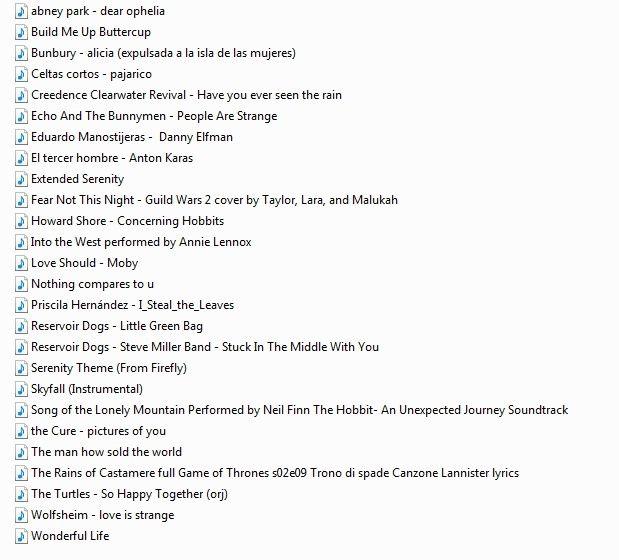 lista musica boda: