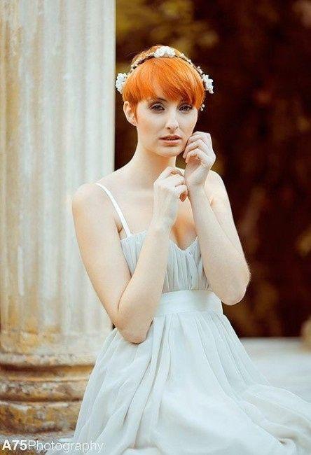 peinado de boda para pelo corto