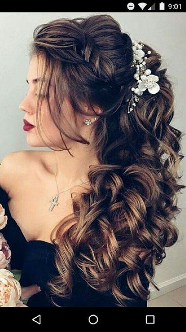 Mi peinado de novia es o fue... - 1