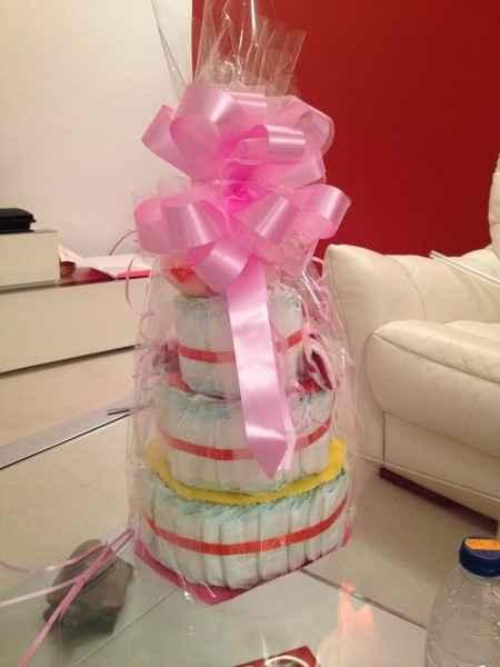pastel pañales