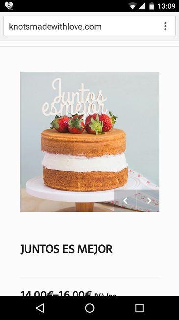 Adorno para la tarta - 1