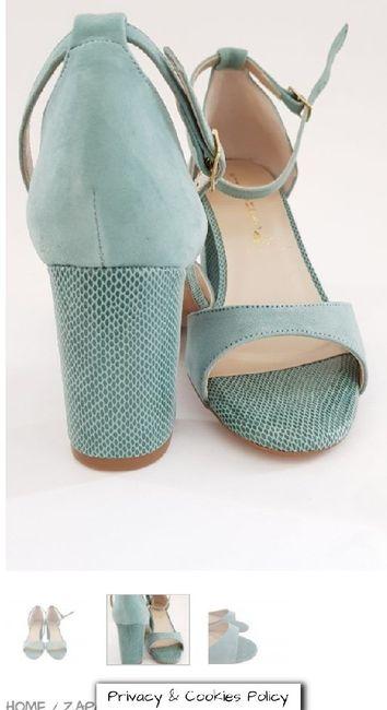 Zapatos de novia de colores 1