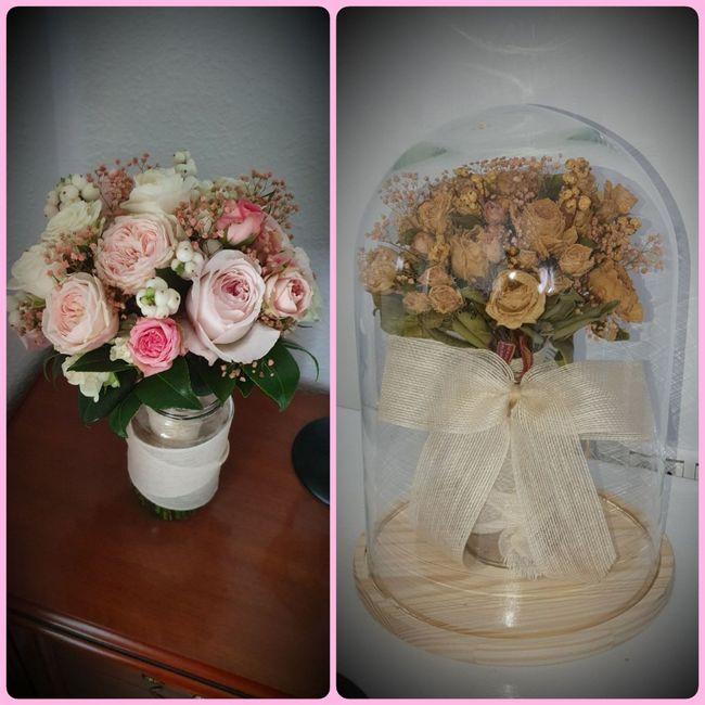 Cúpula de cristal para ramo novia 2