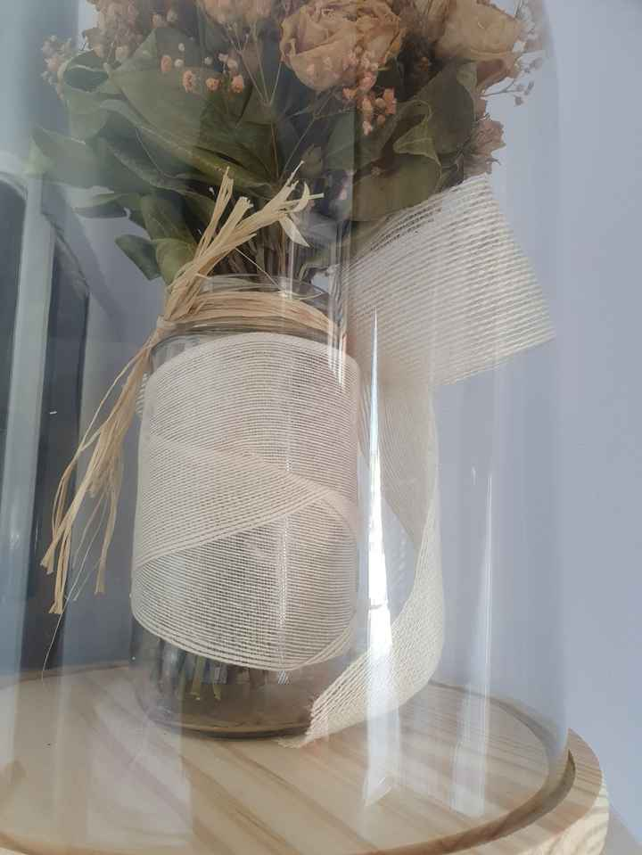 Cúpula de cristal para ramo novia - 1