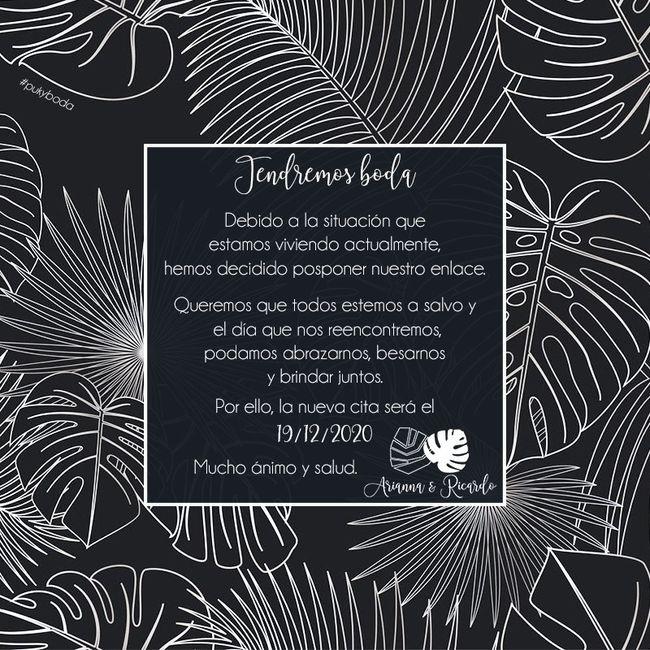 Invitación boda online coronavirus 2