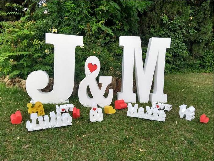 Letras Gigantes para bodas 1