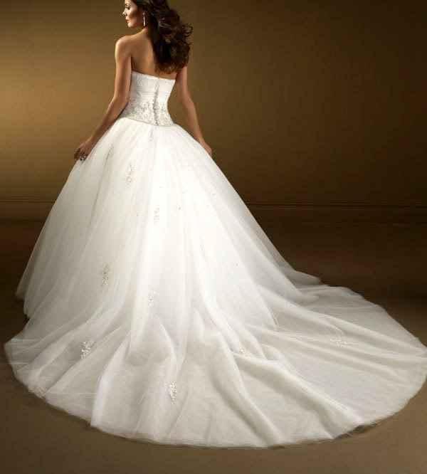 Vestido novia detrás
