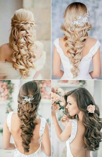 peinado media melena pelo suelto y velo 3 - Peinados De Novia Con Velo