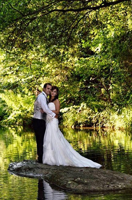 Post boda en el rio